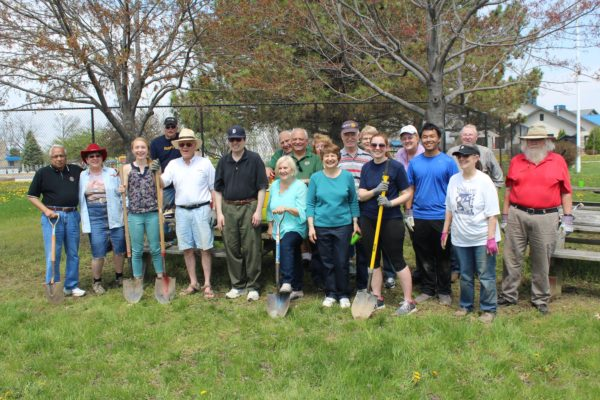 Planting team at Rolling Hills County Park.