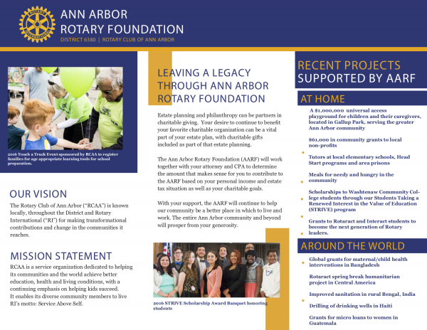 Our Foundation - Rotary Club of Ann ArborRotary Club of Ann